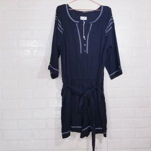 Universal Thread Black Cotton Romper NWT XL